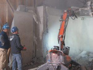 Remote controlled concrete removal